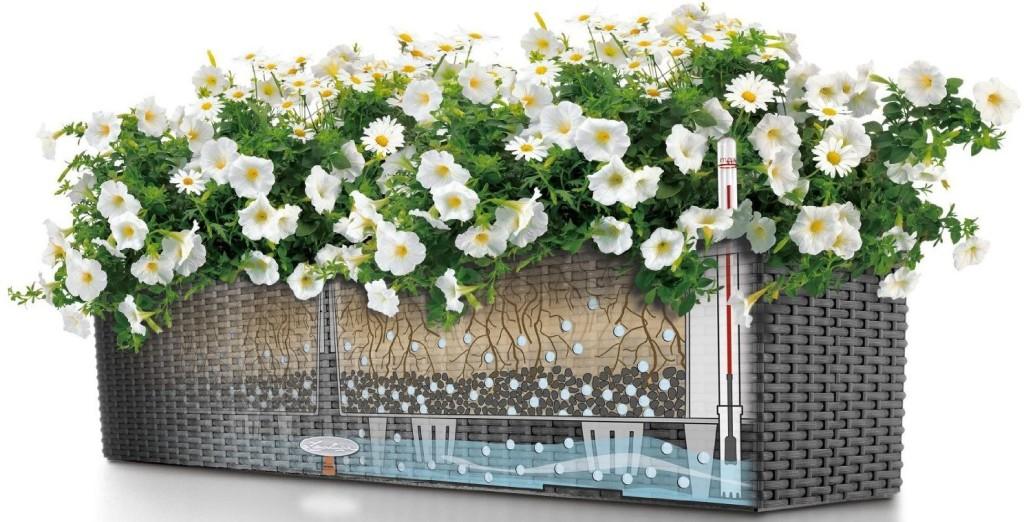 Balkonkästen mit Wasserspeicher von Lechzua