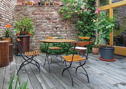 Balkonmöbel aus Eisen