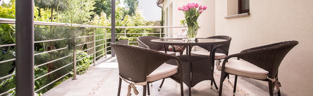 Balkonmöbel aus Rattan
