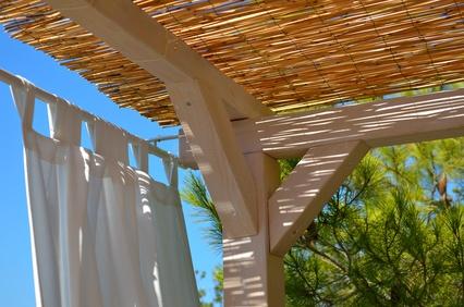 Sonnenschautz Balkon mit Bambusmatten