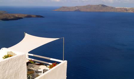 Sonnenschutz Balkon mit Sonnensegel