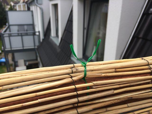 balkon sichtschutz aus bambus selber bauen anleitung mit. Black Bedroom Furniture Sets. Home Design Ideas