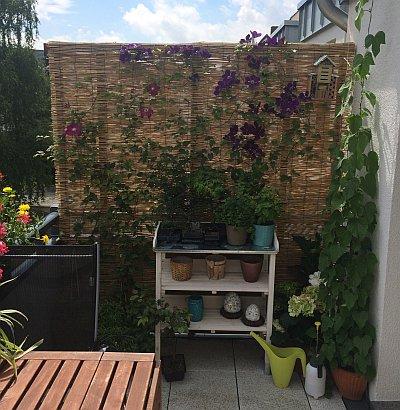 Balkon Sichtschutz Aus Bambus Selber Bauen Anleitung Mit Video