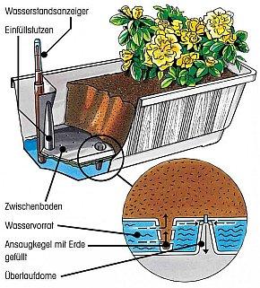 Blumenkästen mit Wasserspeicher Anleitung