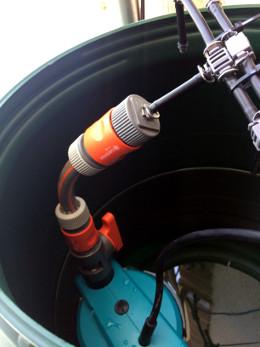 Automatisches Bewässerungssystem für den Balkon Nahaufnahme