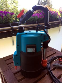 Automatisches Bewässerungssystem für den Balkon Pumpe Gardena 4000 2 automatic links