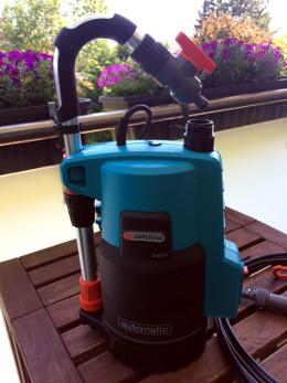Automatisches Bewässerungssystem für den Balkon Pumpe Gardena 4000 2 automatic