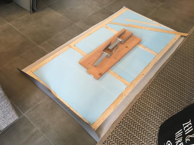 Aufblasbarer Outdoor Whirlpool von Miweba MSpa Alpine Delight Rahmenkonstruktion abdeckung bespannen mit kunstleder